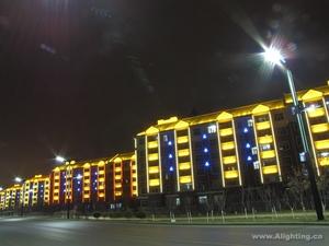 吉林油田镜湖小区照明改造工程