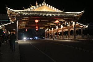 福建泰宁水南桥夜景照明